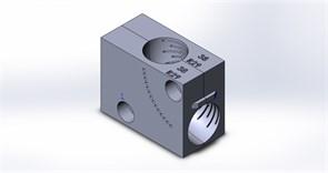 Приспособление (струбцина) для фиксации отвода Ø38 в тисках ленточнопильного станка